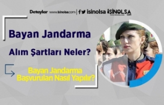 Bayan Jandarma Alım Şartları Neler? Bayan Jandarma...