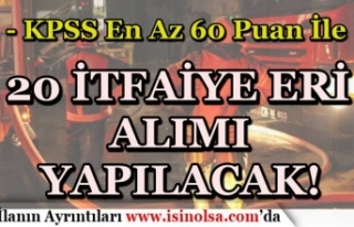 Belediye Bu Hafta 60 KPSS İle İtfaiye Eri Alımı...