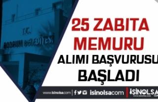 Bodrum Belediyesi Lisans Mezunu 25 Memur Alımı Başvuruları...