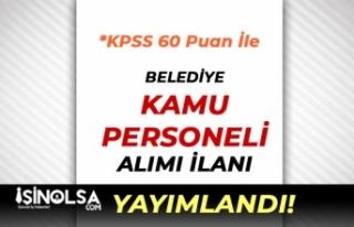 Bolvadin Belediyesi 60 KPSS Puanı İle Kamu Personeli...