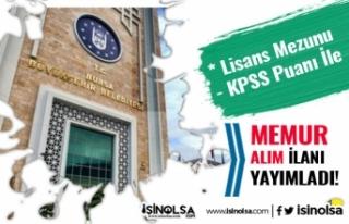 Bursa Büyükşehir Belediyesi BUSKİ Lisans Mezunu...