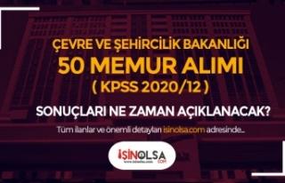 Çevre ve Şehircilik Bakanlığı 50 Memur Alımı...