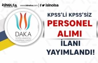Doğu Anadolu Kalkınma Ajansı DAKA KPSS'li...