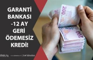 Garanti Bankası 12 Ay Geri Ödemesiz Düşük Faizli...