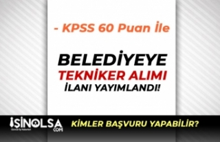 Gölbaşı Belediyesi Düşük KPSS Puanı İle Tekniker...