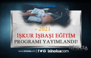 İŞKUR İşbaşı Eğitim Programı 2021 Şartları...