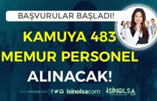 Kamuya 483 İşçi, Personel ve Memur Alımı Başvuruları...