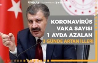 Korona Vakası Azalan 9 İl, Son 3 Günde Artan iller...