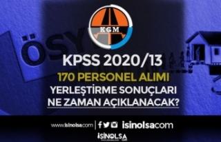 KPSS 2020/13 KGM 170 Personel Alımı Yerleştirme...