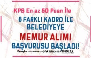KPSS 50 Puan İle Belediyeye Personel ve Trafik Memuru...