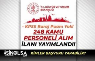 Kültür Bakanlığı AYK 248 Kamu Personeli Alım...