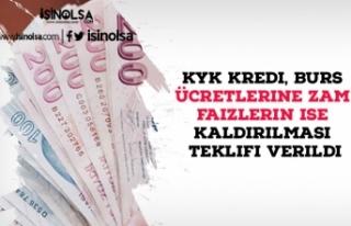 KYK Kredi, Burs Ücretlerine Zam Faizlerin ise Kaldırılması...