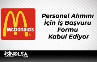 McDonalds Personel Alımını İçin İş Başvuru...