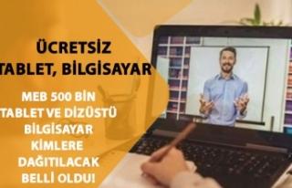 MEB 500 Bin Ücretsiz Tablet, Acun Ilıcalı TV8 Dizüstü...