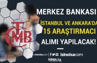 Merkez Bankası İstanbul ve Ankara'da Kadrolu...