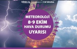 Meteorolojiden Ardı Ardına Uyarı! 9 Ekim 2020 Hava...
