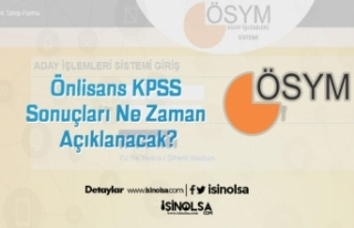 Önlisans KPSS Sonuçları Ne Zaman Açıklanacak?