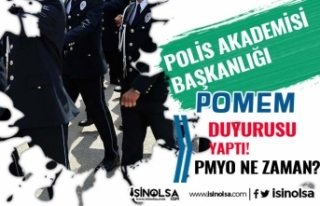 PA POMEM Duyuruları Yapıyor! 2020 PMYO Polis Alımı...