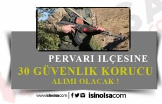 Jandarma Pervari İlçesine 30 Güvenlik Korucusu...