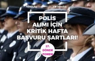 Polis Alımı İçin Kritik Hafta! Lise, Önlisans,...