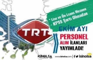 TRT Ekim Ayı Personel Alımı İlanları 2020! Şartlar...