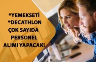 Yemeksepeti ile Decathlon Çok Sayıda Personel Alımı...