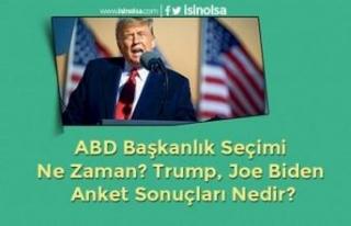 ABD Başkanlık Seçimi Ne Zaman? Trump, Joe Biden...