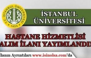 İstanbul Üniversitesi İŞKUR İle 11 Hastane Hizmetlisi...