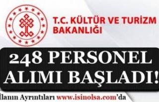 Kültür ve Turizm Bakanlığı 248 Personel Alımı...