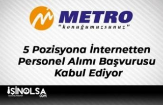 Metro Turizm 5 Pozisyona İnternetten Personel Alımı...