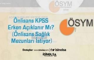 Önlisans KPSS Erken Açıklanır Mı? (Önlisans...