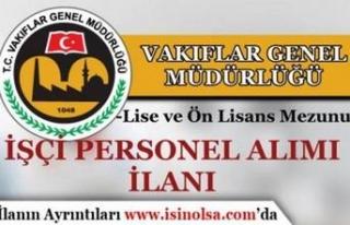 Vakıflar Genel Müdürlüğü Lise ve Ön Lisans...
