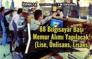 88 Bilgisayar Başı Memur Alımı Yapılacak! (Lise,...