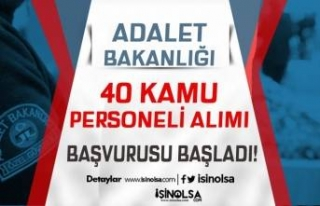 Adalet Bakanlığı 2021 Yılı 40 Kamu Personeli...