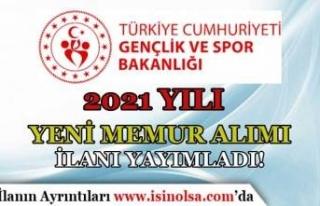 Gençlik ve Spor Bakanlığı ( GSB ) 2021 Memur Alımı...