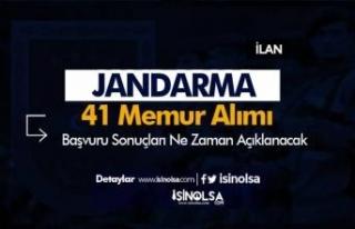 Jandarma 41 Sözleşmeli Personel ve Memur Alımı...