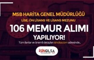 MSB Harita Genel Müdürlüğü 30 Farklı Kadro İle...