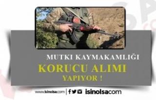 Mutki Kaymakamlığı Köy Korucu Alıyor! 7 Ocak...