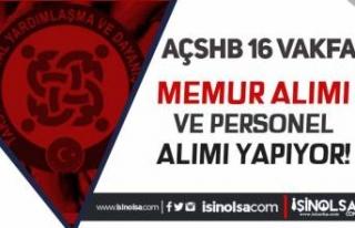 AÇSHB Sosyal Yardımlar 16 SYDV 53 Memur ve Personel...