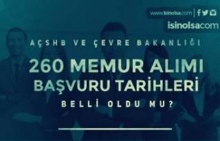 AÇSHB ve Çevre Bakanlığı 260 Memur Alımı Başvuruları...