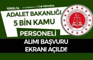 Adalet Bakanlığı 5000 Kamu Personeli Alımı (...