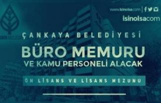 Ankara Çankaya Belediyesi Büro Memuru ve Kamu Personeli...