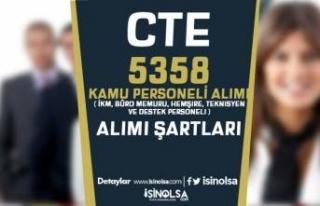 CTE 5358 İKM, Büro Memuru, Hemşire, Teknisyen ve...
