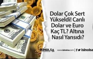 Dolar Çok Sert Yükseldi! Canlı Dolar ve Euro Kaç...