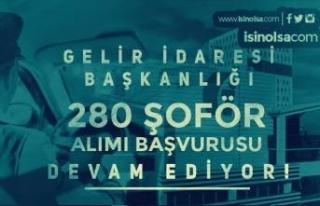 Gelir İdaresi Başkanlığı 280 Şoför Alımı...