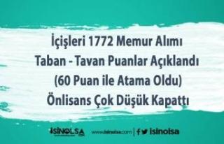 İçişleri 1772 Memur Alımı Taban - Tavan Puanlar...