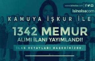 İŞKUR Kamu Memur Alımı İlanları: 1342 Kamu Personeli...