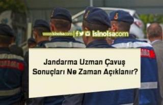 Jandarma Uzman Çavuş Sonuçları Ne Zaman Açıklanır?