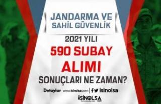 Jandarma ve Sahil Güvenlik 2021 Yılı 590 Subay...