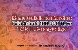 Kamu Bankalarıda Mevduat Faizi Artırdı! 100.000...